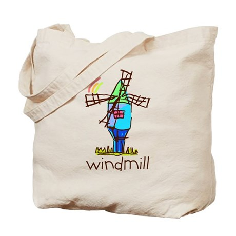 Kid Art Windmill Tote Bag