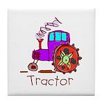 Kid Art Tractor Tile Coaster