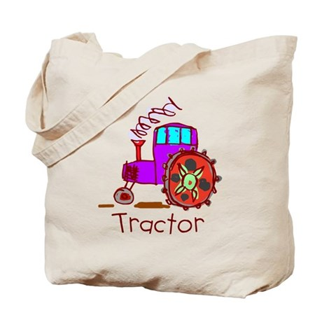 Kid Art Tractor Tote Bag