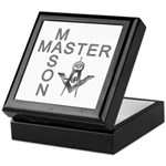 Master Masons Square and Compasses Keepsake Box