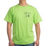 Master Masons Square and Compasses Green T-Shirt