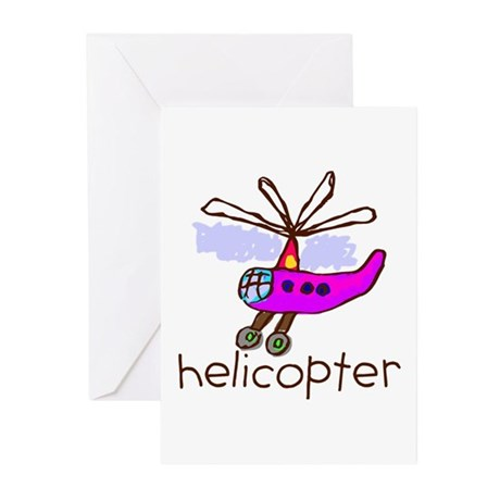 Kid Art Helicopter Greeting Cards (Pk of 10)