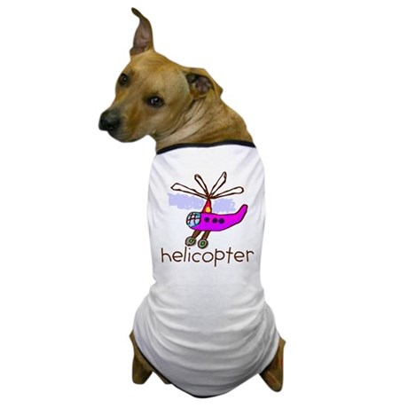 Kid Art Helicopter Dog T-Shirt