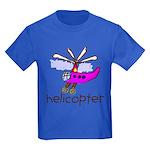 Kid Art Helicopter Kids Dark T-Shirt