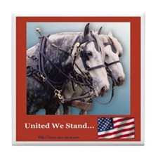 Percheron Patriots Tile Coaster