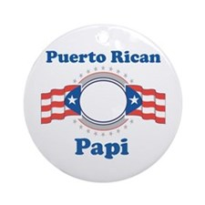 Puerto Rican Papi Ornament (Round)