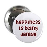 "happiness is being Janiya 2.25"" Button (10 pack)"