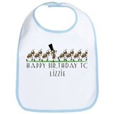 Happy Birthday Lizzie (ants) Bib