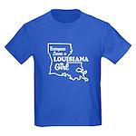 louisiana Girl Kids Dark T-Shirt