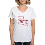 louisiana Girl Women's V-Neck T-Shirt