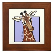 KiniArt Giraffe Framed Tile