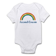 Second Cousin (vintage-rainbo Infant Bodysuit