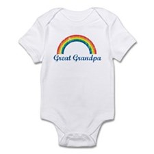 Great Grandpa (vintage-rainbo Infant Bodysuit