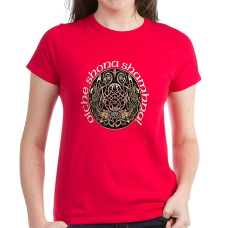 Gaelic Celtic Design Women's Dark T-Shirt