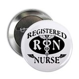 Biker Style Registered Nurse RN Button