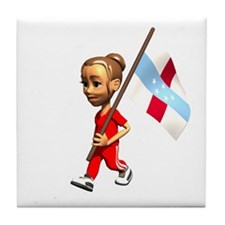 Netherlands Antilles Girl Tile Coaster