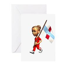 Netherlands Antilles Girl Greeting Cards (Package