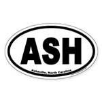 Asheville, North Carolina ASH Oval Sticker