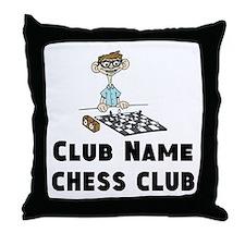 Chess Club Throw Pillow