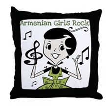 Armenian Girls Rock Throw Pillow