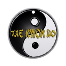 Tae Kwon Do Christmas Ornament (Round)