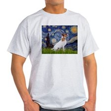 Starry Night & Jack Russell Terrier T-Shirt