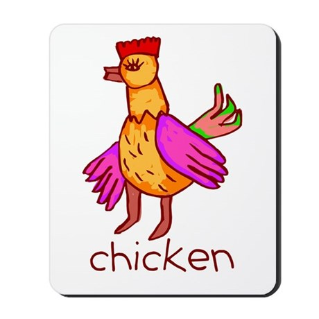 Kid Art Chicken Mousepad