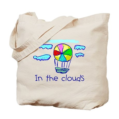 Kid Art Hot Air Balloon Tote Bag