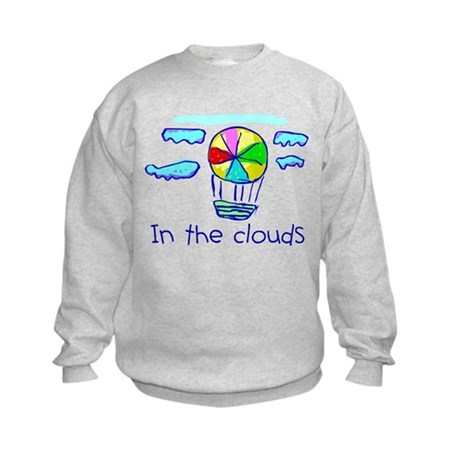 Kid Art Hot Air Balloon Kids Sweatshirt