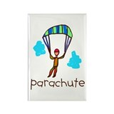 Kid Art Parachute Rectangle Magnet