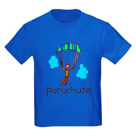 Kid Art Parachute Kids Dark T-Shirt