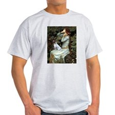 Ophelia Sitting With Jack Russell Terrier T-Shirt