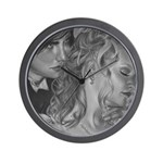 Eternity Vampire Couple Wall Clock