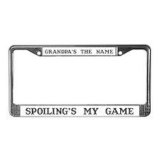 Grandpa's Name #4 License Plate Frame