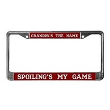 Grandpa's Name License Plate Frame