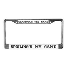 Grandma's Name #4 License Plate Frame