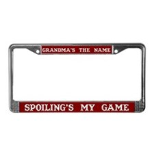 Grandma's Name License Plate Frame