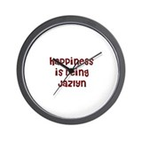 happiness is being Jazlyn Wall Clock