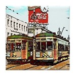 Old Canal Streetcars Tile Coaster