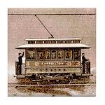 Old Carrollton Streetcar Tile Coaster