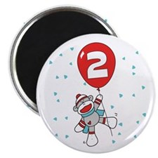 "Sock Monkey 2nd Birthday 2.25"" Magnet (100 pack)"