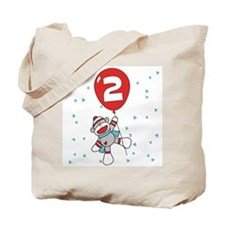 Sock Monkey 2nd Birthday Tote Bag