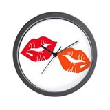 Kisses Wall Clock