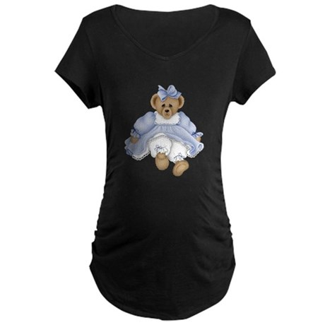 BEAR - BLUE DRESS Maternity Dark T-Shirt