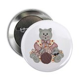 "GREY CAT 2 2.25"" Button (100 pack)"