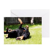 Happy Doberman Greeting Cards (Pk of 10)