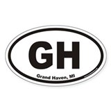 Grand Haven Michigan GH Euro Oval Decal