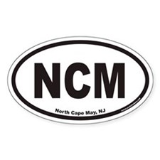 North Cape May NCM Euro Oval Decal