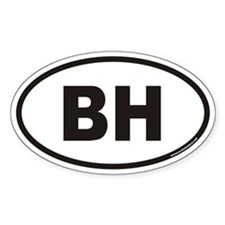 BH Euro Oval Decal