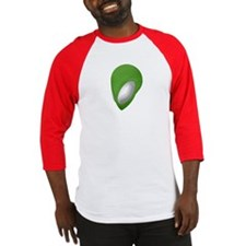 Green Alien Head - Men's Baseball Jersey Shirt